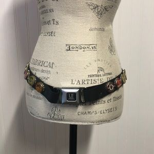 Custom made belt, seatbelt fastener, soda pop lids